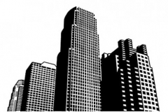 city-high-rise-building-vector-material
